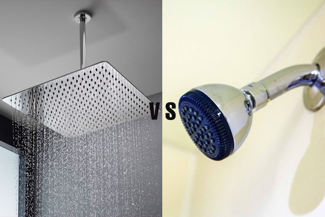 Rain Shower Head vs Regular
